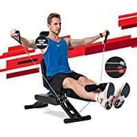 MaxKare Adjustable Workout Bench with Elastic Rope System