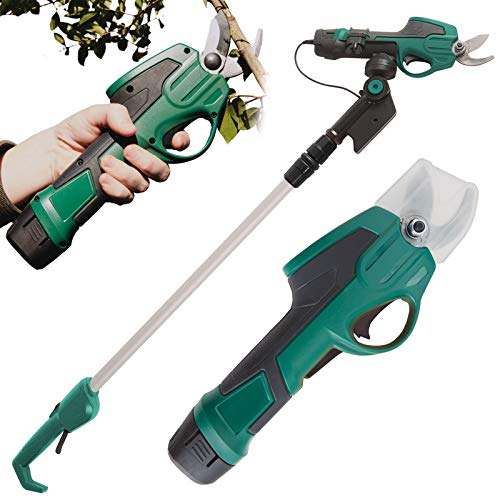 Burwells 7.2V Cordless Electric Pruner Gardening Pruning Shears Secateur Lopper Trimmer Cutter Trim Tree Twigs Branches Shrubs Plant Stems Cut Wood