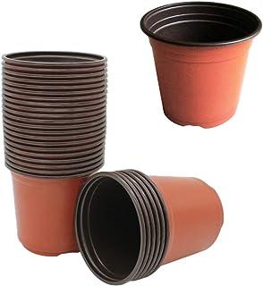 Yardwe 100 Pcs Plastic Plants Nursery Pots Seed Starting Pots Flower Pot Planter Container for Indoor Garden Balcony