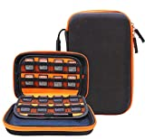 Medium Protective Hard Shell Diabetic Travel Case Hand Strap Testing Kit Organizer for Glucose Meter/Test Strips/Lancing Device/Lancets/Blood Glucose Monitoring System