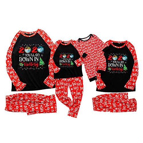 Dasongff Weihnachten Schlafanzug Familie Bekleidungssets Weihnachtspyjamas Rot Plaid...