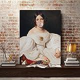 Retrato de dama nórdica Impresiones clásicas en lienzo Imágenes Arte de la...