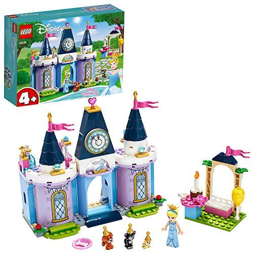 Disney Princess LEGO 43178 Cinderella's Castle Celebration Set with Animal Figures for Preschool 4 + Year Old Kids
