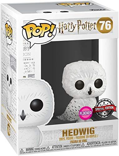 Funko - Figurine Harry Potter - Hedwig Flocked Exclusive Pop 10cm - 0889698355117