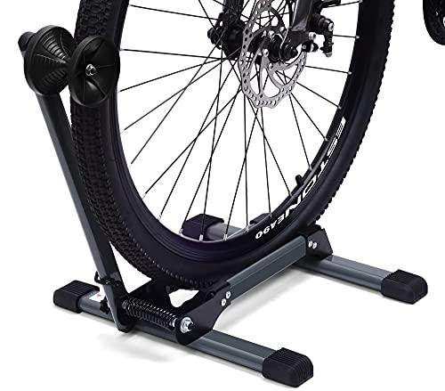 LYCAON Soporte de Suelo para Bicicleta (Último Gris), Aparcamiento para Bicicleta Plegable...
