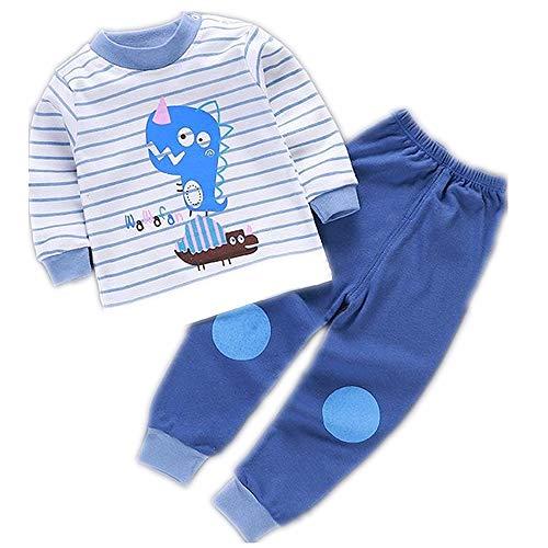 Set di Pigiami per Bambini Pantaloni per Bambina in Cotone a Maniche Lunghe in Cotone a Maniche Lunghe Cartoon Girl Clothing Sleepwear Suit Pigiama Pantaloni