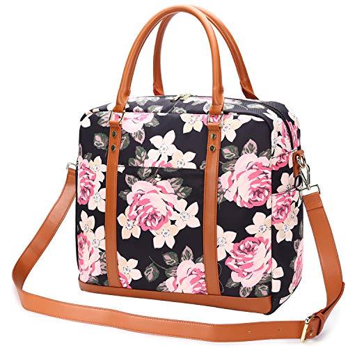 Borsone da Viaggio Donna, Borsa Palestra Weekend Duffel Bag (Fiore)