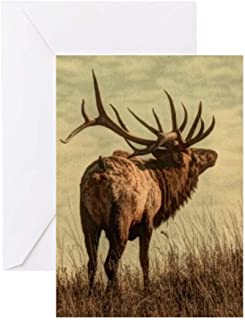 CafePress Rustic Western Wild Elk Greeting Cards Greeting Card (10-pack), Note Card with Blank Inside, Birthday Card Glossy
