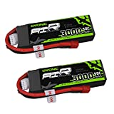 Ovonic 2 Packs 3S 11.1V 3000mAh 50C Lipo Battery with Dean-Style T Connector for RC Airplane Helicopter Boat Drone and FPV