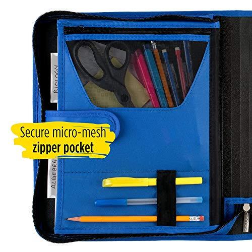 Five Star Zipper Binder, 1-1/2 Inch 3 Ring Binder, 3-Pocket Expanding File, Durable, Blue (72202) Photo #4