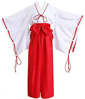 Classical City Japanese Anime Inuyasha Kikyō Cosplay Red Miko Kimono Costume Outfit