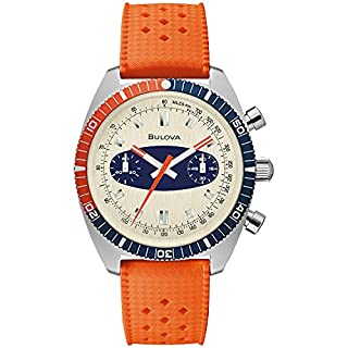 Bulova Men's Stainless Steel Quartz Dress Watch with Silicone Strap, Orange, 20 (Model: 98A254) (B084HC7WDL) | Amazon price tracker / tracking, Amazon price history charts, Amazon price watches, Amazon price drop alerts