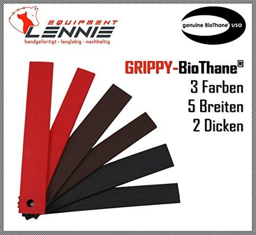 BioThane® Meterware, Grippy Standard, 9-25 mm breit, ca. 2,5 mm dick, 3 Farben, 16mm, Dunkelbraun