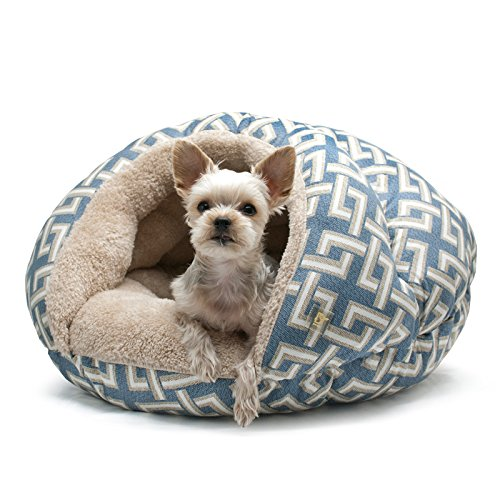 DOGO Burger Bed - Geometric Blue