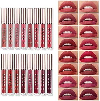 16-Pieces Langmanni Matte Liquid Lipstick