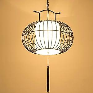 HQLCX Chandelier Chinese Iron Bird Cage Lamp Living Room Study Restaurant Decoration Iron Chandelier