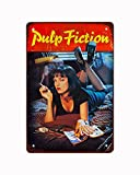 1994 Pulp Fiction Retro Movie Posters,Vintage Metal Tin Sign Retro Poster Design for Cafes Bar Pub Beer Club Wall Home Decor 12x8 Inch