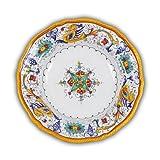 Arte D'Italia Imports Hand Painted Italian Ceramic Raffaellesco Fluted Soup / Pasta Bowl - Handmade in Deruta