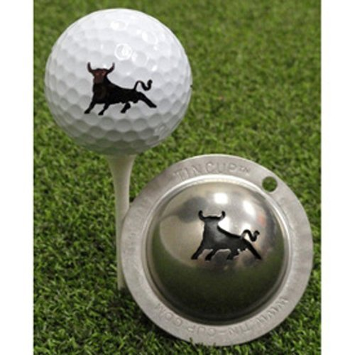 Tin Cup Bull Market Golf Ball Marking Stencil, Steel