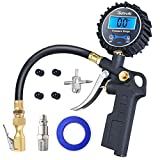 AstroAI Digital Tire Inflator with Pressure Gauge, Medium 250 PSI Air Chuck and Compressor Accessories Heavy Duty with Rubber Hose and Quick Connect Coupler for 0.1 Display Resolution