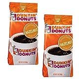 Dunkin Donuts Avellana café molido - (Por bolsa 2 paquetes) - American Importado asado Kaffee, 340 gramos (12 oz Hazelnut Ground Coffee)