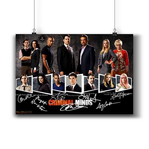 Pentagonwork Criminal Minds TV-Foto-Poster 271-001, Nachdruck, signierte Guss, Wandkunst, Dekoration, Geschenk, A4, 21 x 29 cm