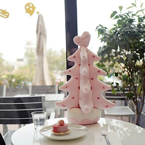 35x50cm Plüsch Weihnachtsbaum Spielzeug Gefüllte Weiche Weihnachtsbaum Rosa Rosa Grün Weiß Weihnachten Home Store Dekoration Laimi (Color : Rosa, Size : 35x50cm)