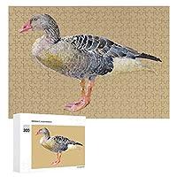 鳥のガチョウの水彩画 300ピースのパズル木製パズル大人の贈り物子供の誕生日プレゼント