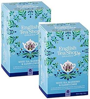 English Tea Shop Weißer Tee mit Blaubeere und Holunder Made in Sri Lanka - 2 x 20 Teebeutel 80 Gramm