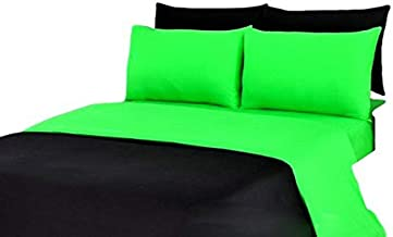 Tache Home Fashion DC46PC-GBK 4-6 Pieces Reversible Duvet Set, King, Green