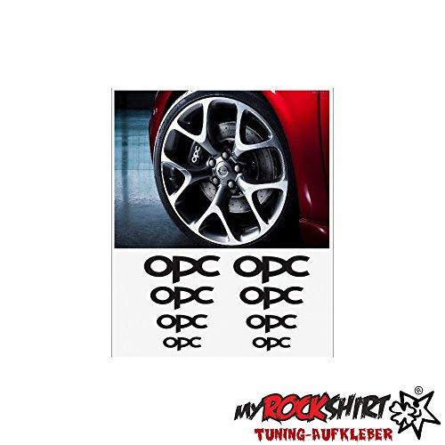 8x OPC Bremsen Felgen Aufkleber Tuning Scheibe Lack TYP-MRS272 `+ Bonus Testaufkleber
