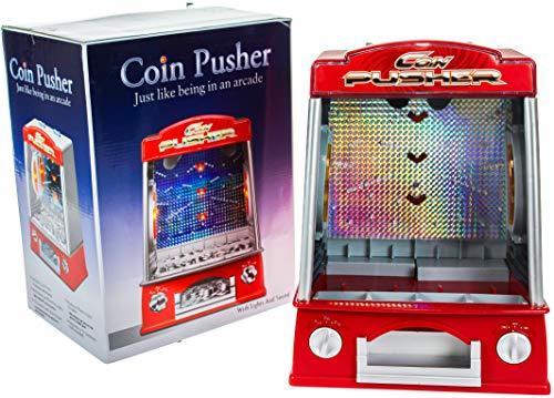 United Entertainment - Münzschieber/Coin Pusher/Glückspiel - Rot - 17x23x33 cm