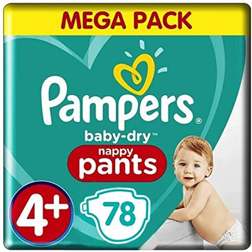 Pampers Baby-Dry Pants Windelhöschen, Größe 4+, 78 Höschen