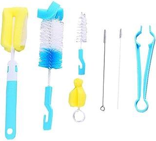 7 piezas Cepillos de Botella kit de limpieza para botellas/vasos/paja Adecuado para