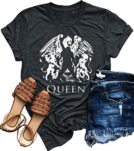 Women's Queen White Logo T-shirt, S to XXL