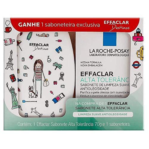 Sabonete Facial em Barra Effaclar Alta Tolerância La Roche-Posay 70g + Grátis 1 Saboneteira Desenhos Sortidos