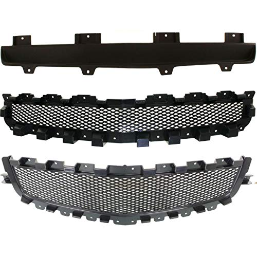 Set of 3 Grille Grill Compatible with Chevy Malibu 08-12