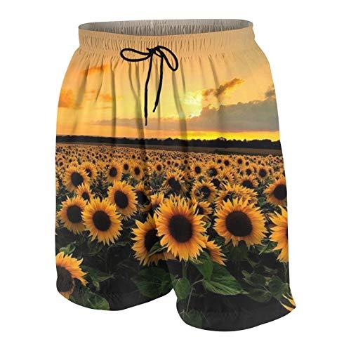 Meiya-Design Sunflower Field Up - Traje de baño para hombre, diseño de girasol