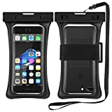 RANVOO [Floating] Waterproof Phone Pouch, Dry Bag Case for iPhone SE New 2020, iPhone Xs Max XR X 8 Plus 7 Plus 6 6s Plus, Samsung Galaxy S9 Plus S8 Edge Note 8 7, LG G5 G6, up to 6.8'- Black