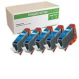 Inkjetcorner Compatible Ink Cartridge Replacement for CLI-221C CLI-221 for use with iP3600 iP4600 iP4700 MP560 MP620 MP640 MX860 MX870 (Cyan, 5-Pack)