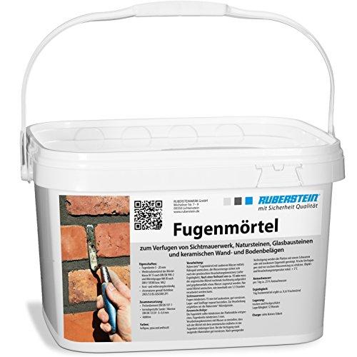 Ruberstein® Fugenmörtel grau im 10 kg Eimer