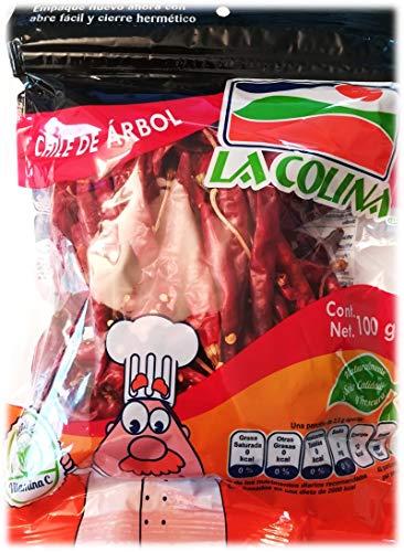 Arbol Chili ganz (getrocknet 100g)   Capsicum annum   Der authentische Geschmack Mexikos