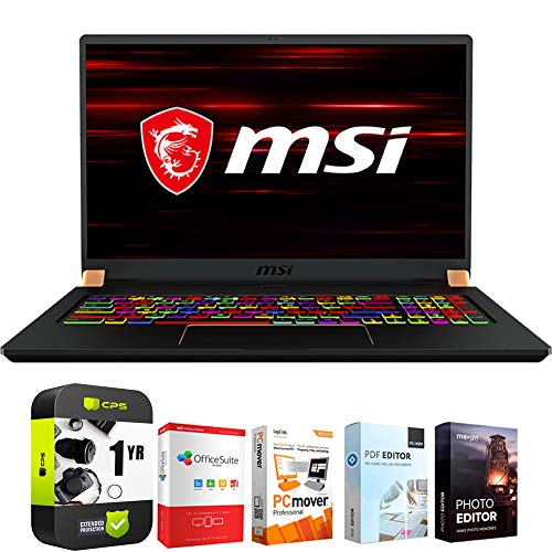 MSI GS75 Stealth 10SFS-035 17.3' Intel i7-10750H 32GB/512GB SSD Gaming Laptop Bundle w/Elite Suite 18 Software (Office Suite Pro, Photo Editor, PDF Editor, PCmover Pro) + 1 Year Protection Plan