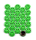 Classic Green Smiley Face Pinback Button Badges – 1 Inch Round - 25 Pack