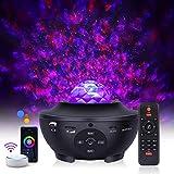 LED Projektor Sternenhimmel Lampe,WIFI Sternenhimmel Projektor mit Bluetooth Musik lautsprecher und remote steuerung,Unterstützung mit SmartAPP Alexa GoogleHome,für Zuhause,Party,Weihnachten,Halloween