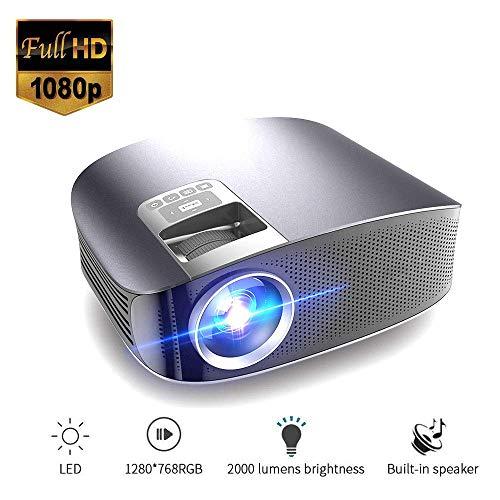 Mengen88 Draagbare videoprojector LCD multimedia beamer LCD HD met 3000 lumen ondersteuning HDMI/USB/SD/VGA/AV/smartphone met micro-USB naar HDMI-kabel