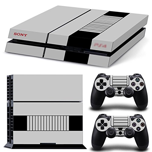 qKonsole PS4 Skin Retro Konsole Designfolie Sticker Playstation 4 Vinyl Schutzfolie Matt