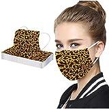 Bufanda Protectora Unisex para Adultos de 20/30 Piezas - Moda Universal con Estampado Lindo de 3 Capas de Tela de Leopardo Elástico para Las Orejas Mantón Suave para Mujeres hombres-21130-36