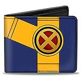 Buckle-Down Billetera plegable para hombre, diseño de ciclopes, color azul, dorado/negro/rojo, multicolor, 4 x 3,5 EE.UU.