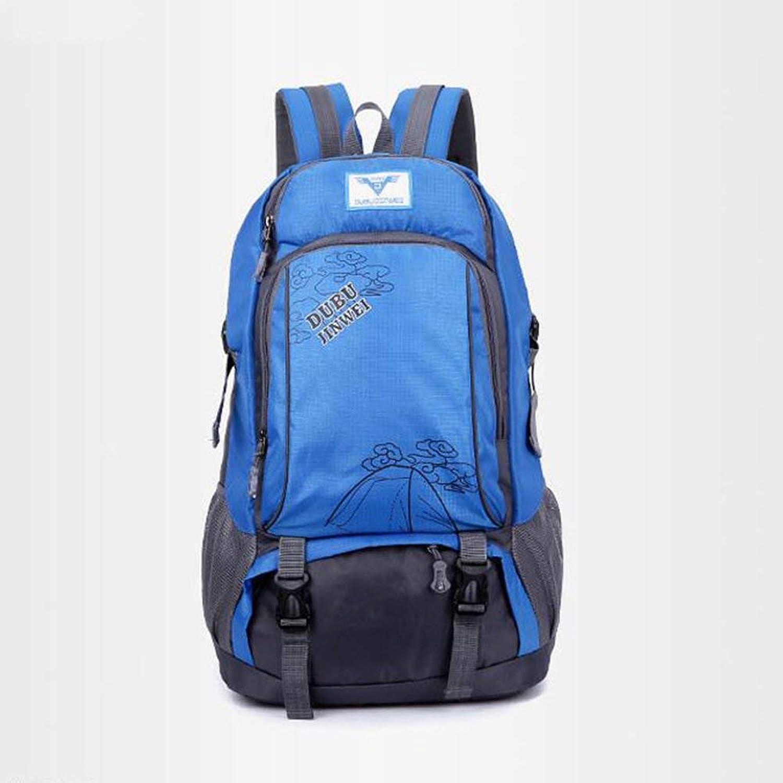 Lounayy Freien Sport Im Bergsteigertasche Mnner Wandern Rucksack Mode Stylisch Nner Und Frauen (Farbe   Blau, Größe   One Größe)